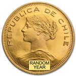 Chile 100 Pesos Gold Coins Random Year - (BU)